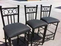 Metal frame and covered seats. call  Location: longmont
