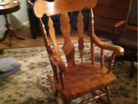 Three nice old rocking chairs in nice condition.