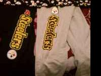 I have 3 never worn pairs of Pittsburgh Steelers pants