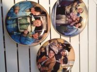 Limited edition Three Stooges plates with plate