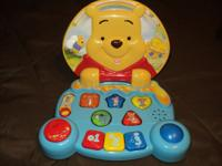 Winnie the Pooh Play and Learn Laptop by vtech. A nice