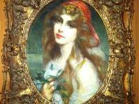 Three very nice original oil paintings in Gold ornate