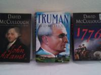 "3 David McCullough Hardcover ""fresh"" biographical"