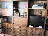 THREE SECTION WALL UNIT/ /ENTERTAINMENT CENTER LOTS OF