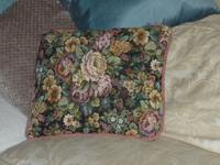 NEW handmade brocade throw pillow for home decor.