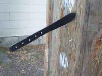 "Here is a professional 13 "" throwing knife. It is well"