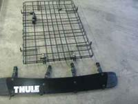 For sale is a cargo basket that mounts to crossbars on