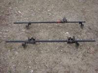 Thule roof rack bars, bike attachments (Old style) and