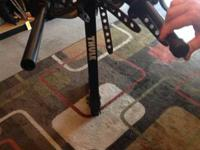 Hitch mount bike rack holds four bikes, quick mount on