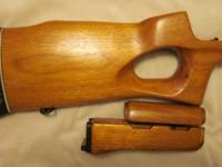 Chinese Norinco MAK-90 thumb hole stock set with all