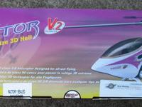 This is a NIB Thunder Tiger Raptor 50 Size 3D Heli