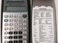 Nice TI-36 calculator. It is barely used and sitting on