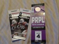 For sale 2 Tickets for arzona cardinals vs san