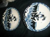 Tienshan Folk Craft Wolf Set of 2 Salad Dessert Plates