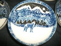 Tienshan Folk Craft Wolf Serving Bowl  This serving
