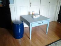Shabby tiffany box blue table $45 lightly distressed