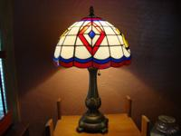 Tiffany type lamp ~ Very beautiful when lit up at night