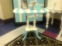 This antique parlor table has been given new life!  The