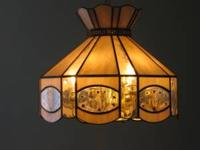 "Tiffany Style Hanging Lamp, approximately 18"" in dia,"