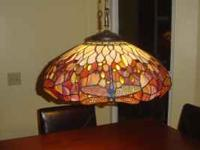 Beautiful Multicolored Tiffany style hanging lamp with