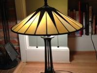 "This is a lovely Quoizel table lamp ""Gotham"" in a"