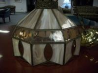 Vintage hanging ceiling light fixture by Tiffany. The