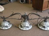 Real Tiffany Light fixture Needs repair on one light