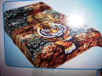 Tiger In A Jungle Bush Mink Blanket. This is an