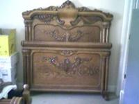 Descripción Tiger Oak full size bed. If you know
