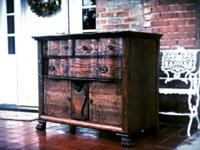 Amazing tiger oak serpentine serving buffet ~beautiful