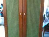 beautiful tiger oak wardrobe closet, great cond  the