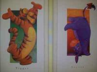 Tigger & Eeyore Artwork...set of 2 panels with white