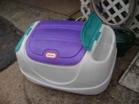 I have a small tikes toy box in great shape. It has two