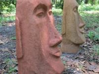 Tiki statues made of concrete. Various designs (see
