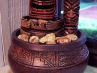 Tropical Tiki Totem Pole Tabletop Fountain (fire and
