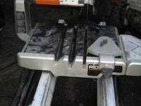 "A gently used tile saw for the professional. 10"" Ridgid"