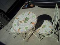 Very Pretty Outdoor Patio set 2 Chairs that folds.  //