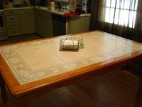 CHARLOTTE ~ TRADE or $100 OBO ~ Tile & wood table. No