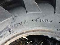 One pair of tiller tires. Size 6-12 4 PR . Like new.