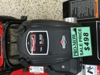 We have a Snapper front tine tiller marked down from