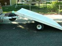 Newly painted and new wood deck. Great trailer for