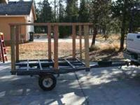 Great little firewood/garden/or dump tilt trailer.