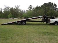 28 foot hydraulic tilt gooseneck trailer for sale.