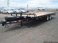 Tandem axle tiltbed equipment trailer, PJ Trailers,