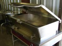 This a brand-new Southbend 40 qt. turning frying pan.