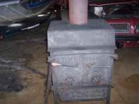 """Timberline woodstove Cast iron front load 26"""" wide 35"""""""