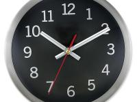 9-in. Round wall clock, perfect for home or office.