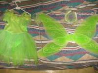Too cute Tinkerbell costume for sale. Size 2t and comes