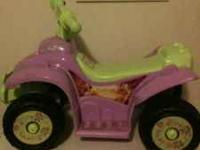 Tinkerbell toddler power wheel for sale, very good