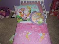 Selling my daughters bed set its tinkerbell comes with